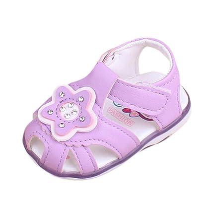 Sandalias Bebé niña verano ❤ Amlaiworld Zapatillas princesas luminosas para niña bebé estrella Sandalias de