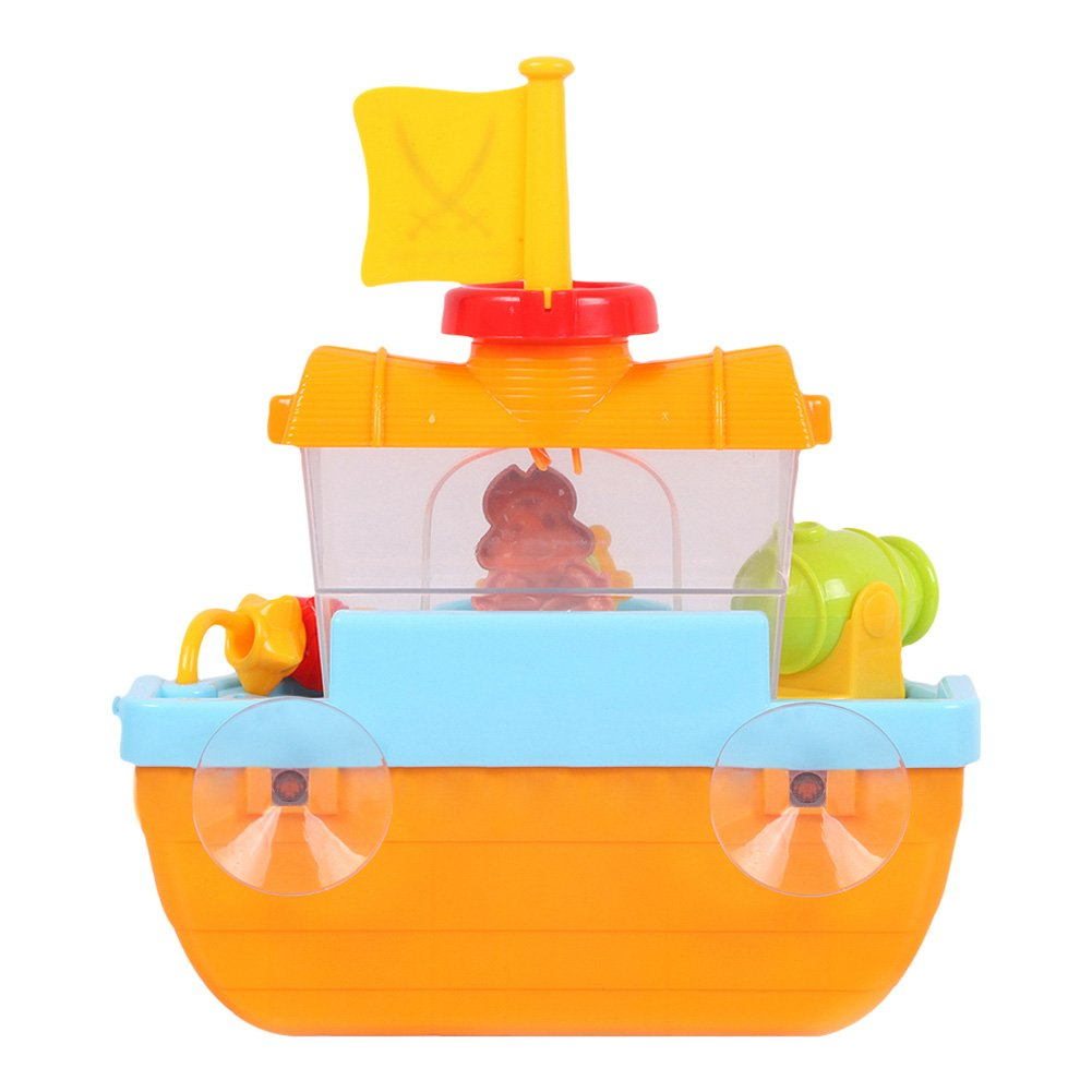 Amazon.com: Wall Mountable Pirate Ship Bathtub Bath Toy for Kids ...