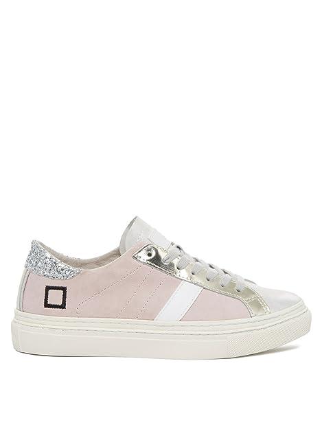Lacci Scarpe PinkCamoscioCon Date Donna Lax Chamois Sneakers wXluPZkiOT