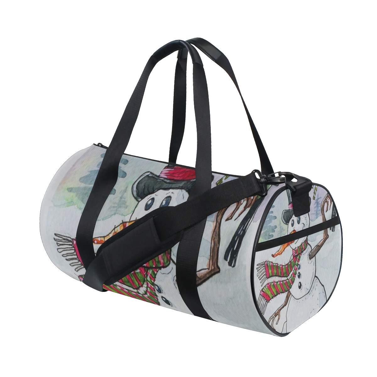 OuLian ジムバッグ レトロオーストラリア国旗 レディース キャンバスダッフルバッグ 女の子用キュートなスポーツバッグ One Size picture2 B07NRQTN3K