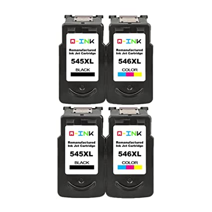 QINK 4PK High Yield Reconstruido para Canon PG-545XL CL ...