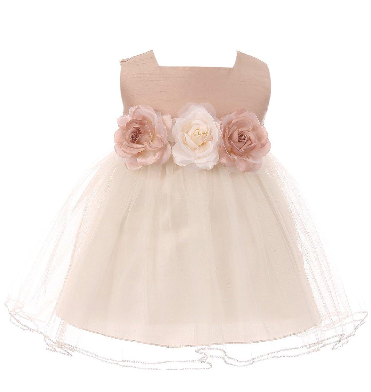 de201b503 Amazon.com  Baby Girls Elegant Square Neckline Tulle Party Infant ...