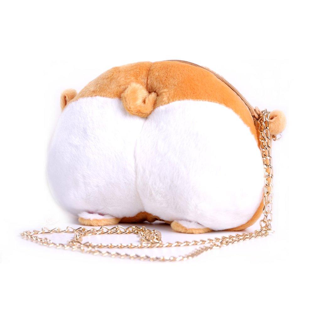 HAWORTHS Corgi Butt Handbag, Cute Corgi Butt Crossbody Shoulder Bags Mini Purse for Kids Girls Women Birthday Gift