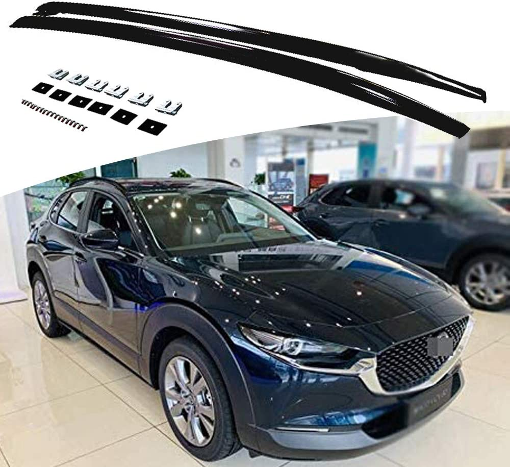 2Pieces Silver Roof Rack Fits for Mazda CX-30 CX30 2020 2021 Aluminium Top Roof Rail Side Rail Bar