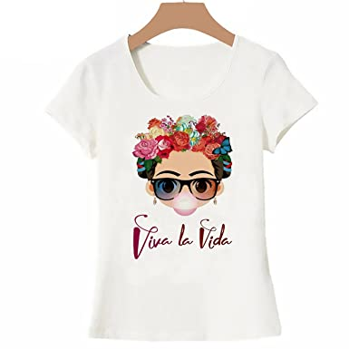 5095cab9 Charismatic Frida Kahlo Tshirt Cute Cartoon Art T Shirt Women Design Tops  Girl T-Shirt