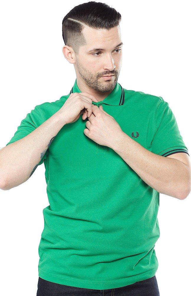[フレッドペリー]ポロシャツ TWIN TIPPED FRED PERRY SHIRT M12N メンズ B076JHZRZM 40|Rgb Green Rgb Green 40