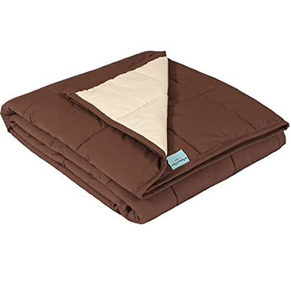 New Version Weighted Blanket Personalized with Contrast Color by Weighted  Idea - Brown and Cream (48  x78   f6da9272e