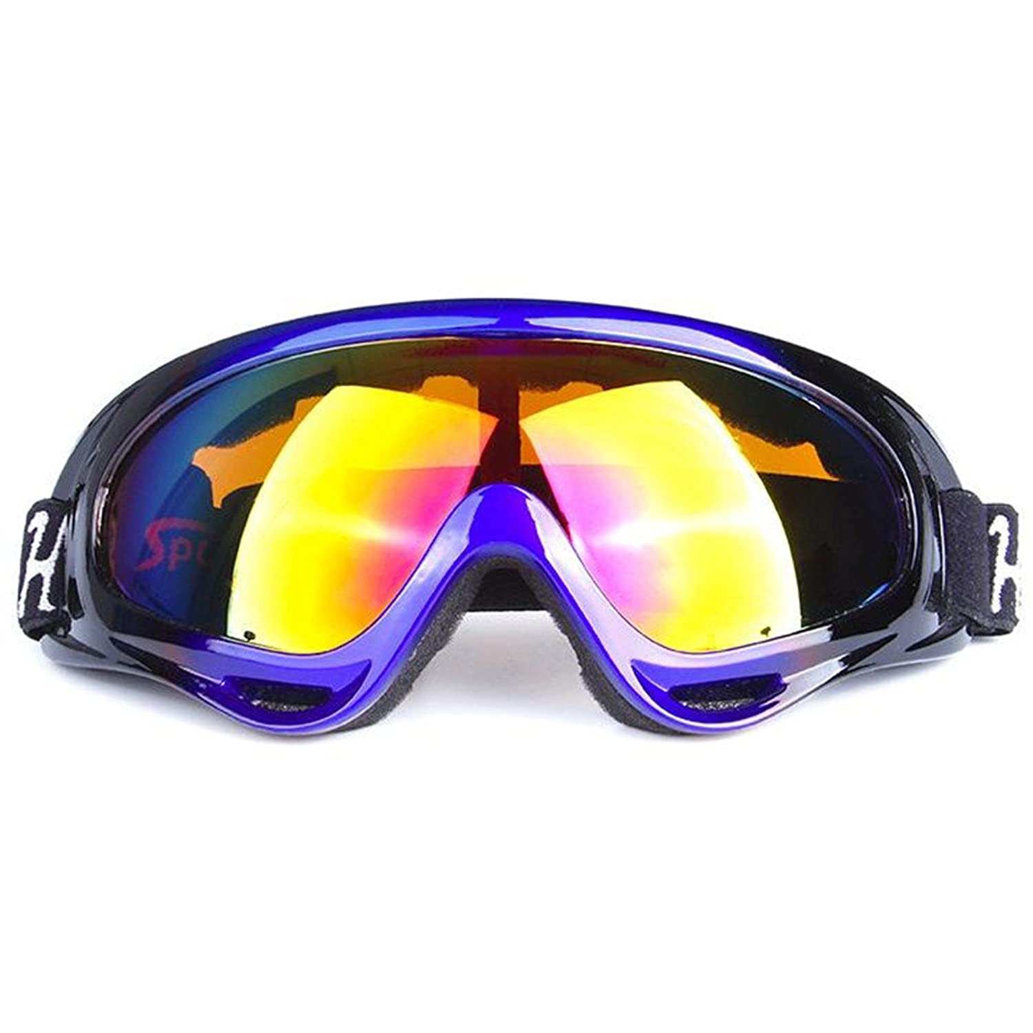 Y-H Unisex Adult Sports Ski TPU PC Ski Windproof Breathable Protection Goggle Eyewear