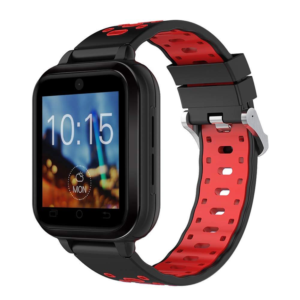 Lovewe Q1 Pro Android6.0 4G Heart Rate Monitor, Blood pressure,Pedometer Phone Call 1G RAM 8G ROM GPS WIFI IP67 Waterproof Smart Watch (RED)