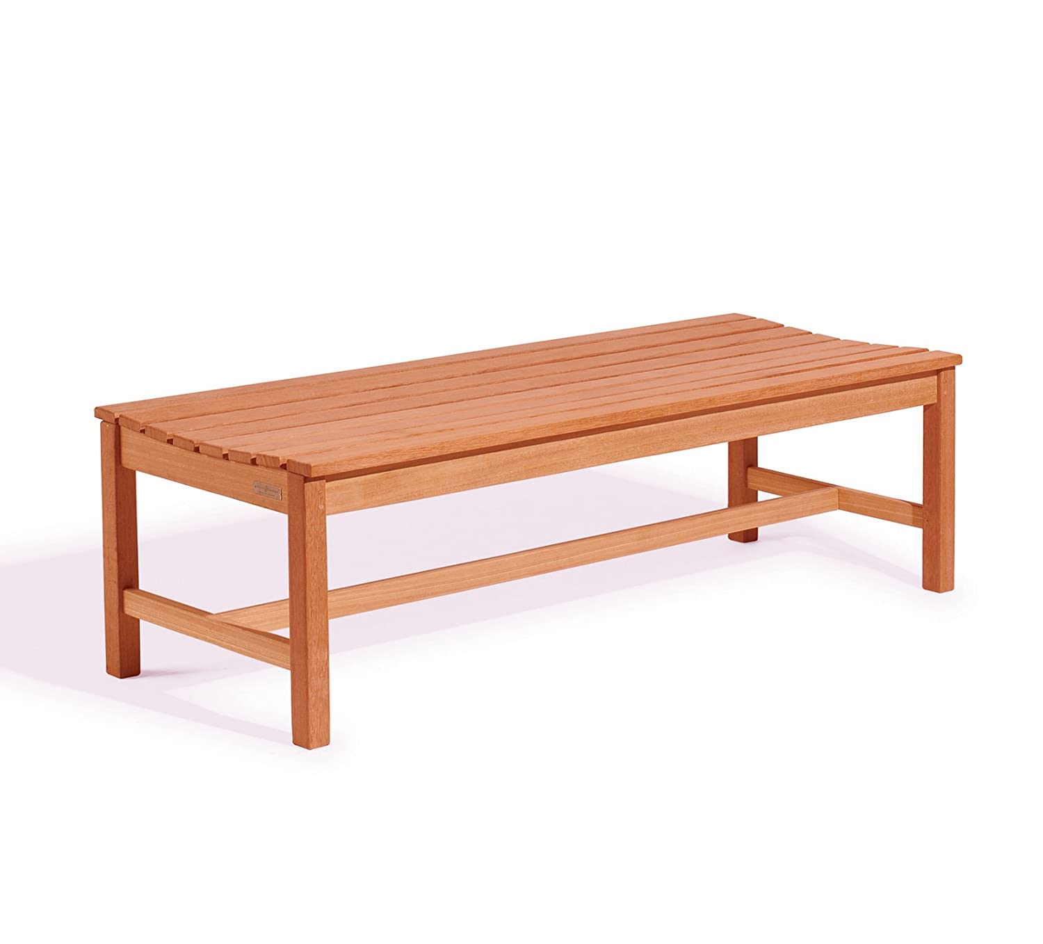 Vifah V025-1 Outdoor Baltic Wood Garden Backless Slatted Seat Bench, 5-Feet