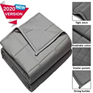 HomeGurus Weighted-Blanket Soft Material for Sleeping Calming and Relaxing Comforter Cool Heavy Bed Blankets for Adults Kids Toddler and Family (36x48 inch 7 lbs, Grey)