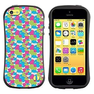 DesignCase Premium TPU / ABS Hybrid Back Case Cover Apple iPhone 5C ( cute circles )