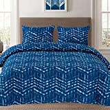 Sweet Home Collection Unique Stylish Zig Zag Geometric Pattern 3 Piece Duvet Cover Set, King, Monroe