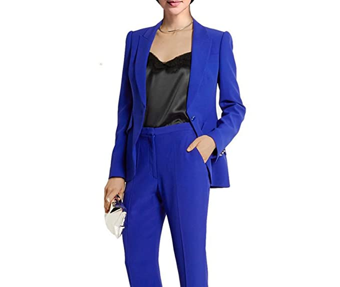 Amazon.com: Royal Blue Work Bussiness Traje formal para ...