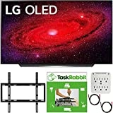 LG OLED77CXPUA 77 inch CX 4K Smart OLED TV with AI ThinQ 2020 Bundle with TaskRabbit Installation Services + Deco Gear Wall Mount + HDMI Cables + Surge Adapter