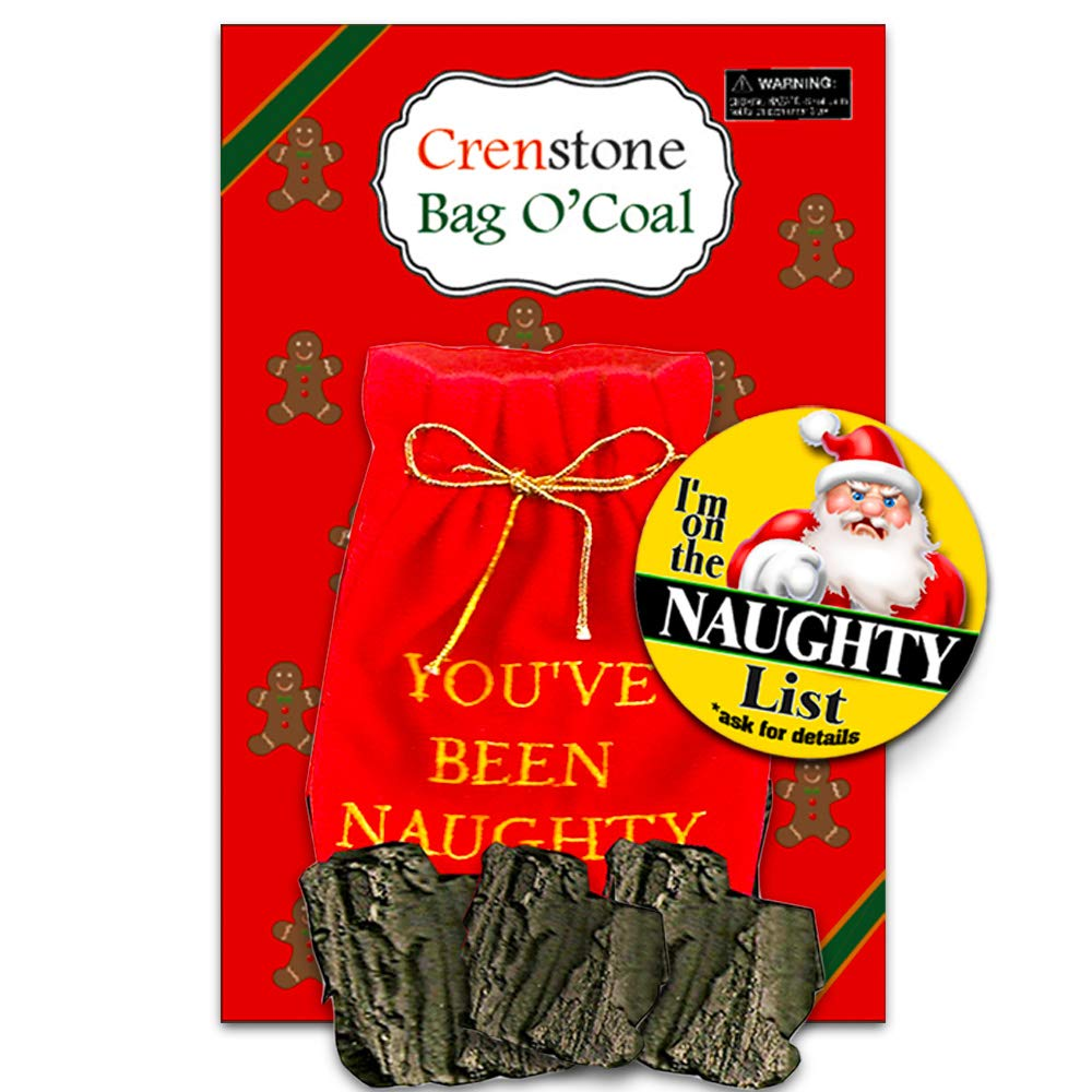 Christmas Lump of Coal Naughty (with Gift Bag)