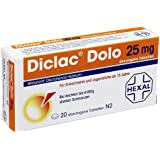 Diclac Dolo 25 mg Tabletten, 20 St.