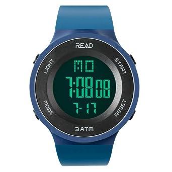 f352b6b160 デジタル 腕時計 日付 メンズ スポーツウォッチ レディース 時計 曜日 ストップウオッチ 時報 アラーム LED バックライト 大文字