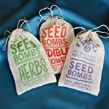 3-Pack of Organic Seed Bombs (Edible Flowers, Salad Greens, and Herbs)