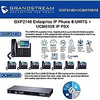 Grandstream GXP2140 8-UNITS Enterprise IP phone, + UCM6108 8 Port IP PBX