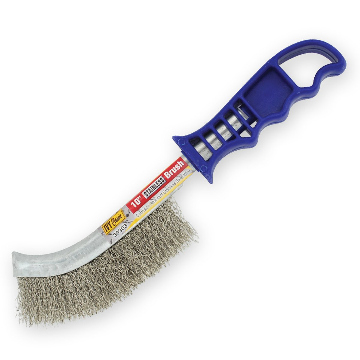 0.012-Inch Coarse 1//Card Ivy Classic Industries IVY Classic 39303 10-Inch Stainless Steel Scratch Brush