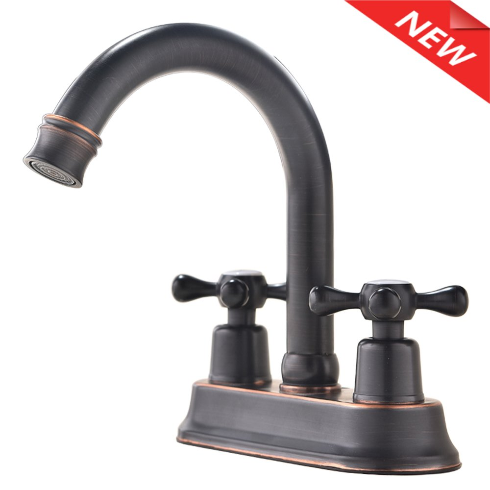 Modern oil rubbed bronze 2 handle widespread stainless - Stainless steel bathroom fixtures ...