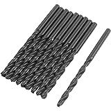 10 Stück Elektro HSS-Bohrer, 4 mm Durchmesser, Spitze gerade Shank Twist-Bohrer-Bit