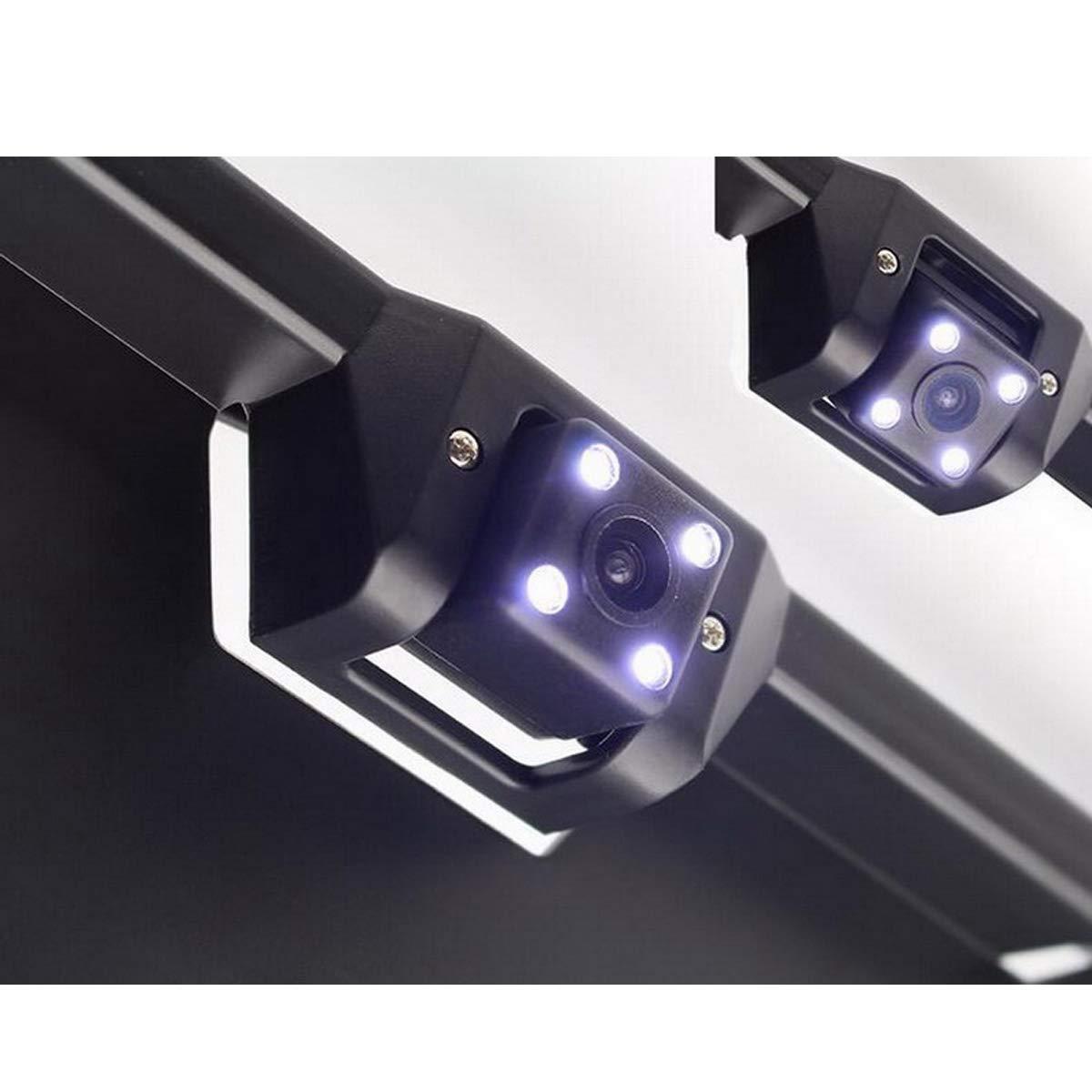 4.3 Pulgadas Espejo retrovisor del Coche Monitor DONGMAO 2in1 4 LED de visi/ón Nocturna Marco de matr/ícula Europea C/ámara de estacionamiento
