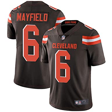 384056a29 Men s  6 Cleveland Browns Baker Mayfield Brown Limited Stitch Jersey ...