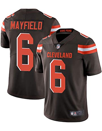 Men s  6 Cleveland Browns Baker Mayfield Brown Limited Stitch Jersey d6baea988