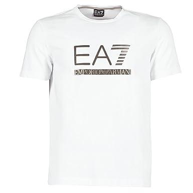4df8281b6bb Tee-shirt EA7 Emporio Armani Blanc (L)  Amazon.fr  Vêtements et ...