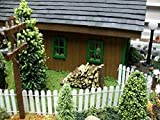 White Picket Fence for Miniatures, Doll House, Model Railroad, & Architecture Landscape Scenes For Sale