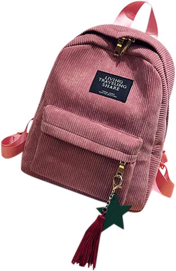 FAVARAL Petit Sacs D/école Sac Etudiante Sac /à Dos de Voyage Cartable Pliable Backpack Velours c/ôtel/é pour Lyc/ée College /École Randonn/ée Ultra-L/éger