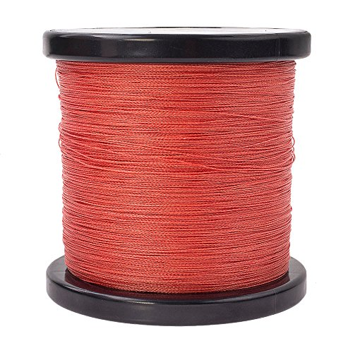 (HERCULES Super Strong 1000M 1094 Yards Braided Fishing Line 50 LB Test for Saltwater Freshwater PE Braid Fish Lines 4 Strands - Red, 50LB (22.7KG), 0.37MM)
