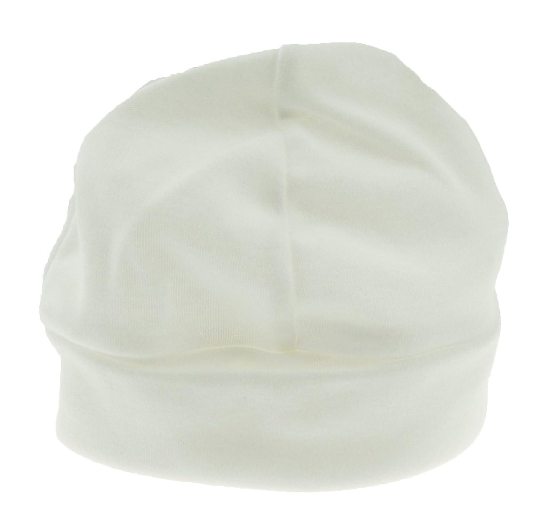 Baby Girls Boys Super Soft Cotton Beanie Hat Cap 6-9 Months Medium White Glamour Girlz