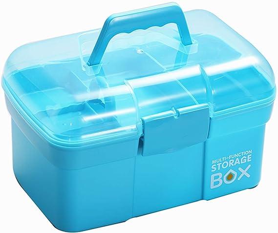 Sunxenze 11'' Clear Plastic Storage Box/Tool Box/Sewing Box Organizer