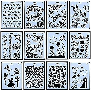 Amazon Com 12pcs Drawing Painting Stencils Scale Template Sets 10 X