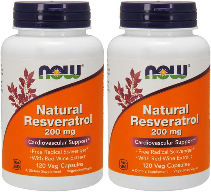Amazon Com Now Foods Natural Resveratrol 200mg 120 Vcaps Pack
