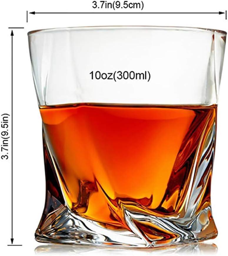 Cristal de Roca del Whisky Vidrios para Regalos de cumplea/ños del d/ía de Padre Hombres Mujeres 300ML Wly/&home Whisky Gafas