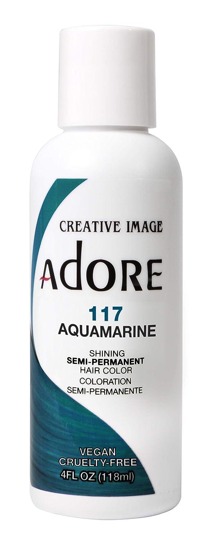 Adore Semi-Permanent Haircolor #117 Aquamarine 4 Ounce (118ml) (2 Pack)