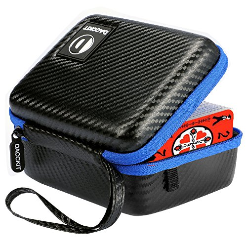DACCKIT Carrying Case Compatible with Dutch Blitz Original and Expansion Pack Card Game - Fits Up to 400 Cards, Card Holder with Hand Strap and Carabiner (Dutch Box)