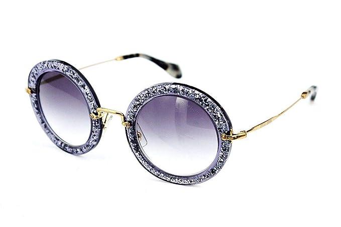 Gafas de sol Miu Miu 13NS Purple, Glitter Ronda: Amazon.es ...