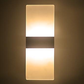6W LED Wandleuchte Wandlampe,Acryl Wandleuchte LED Up Down Wandleuchte  Wohnzimmer Schlafzimmer Lichter Lampen Korridor
