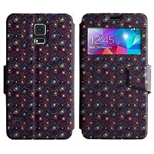 LEOCASE Remolinos Lindos Funda Carcasa Cuero Tapa Case Para Samsung Galaxy S5 I9600 No.1000407