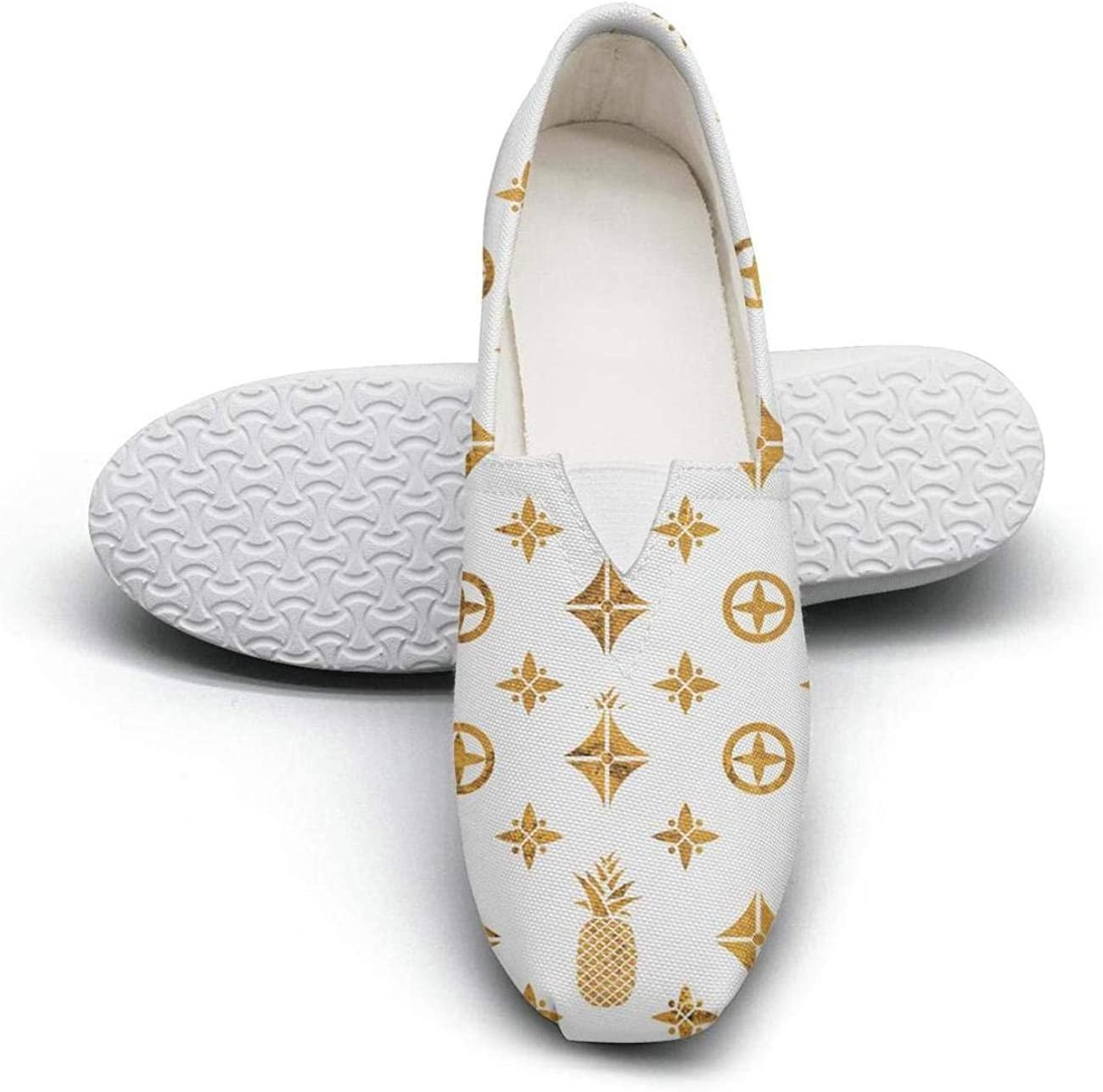 Shih Tzu Dog Silhouettes Balck and White Classic Slip-ONS Women's Extra Light Flat Slip on Shoes Ladies Espadrille Flats