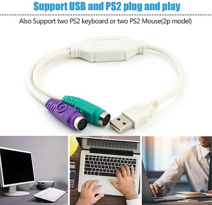Prim345ownin - Cable Adaptador USB Macho a PS2 Hembra para ...