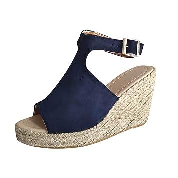 Tsmile Women Espadrille Wedge Sandals