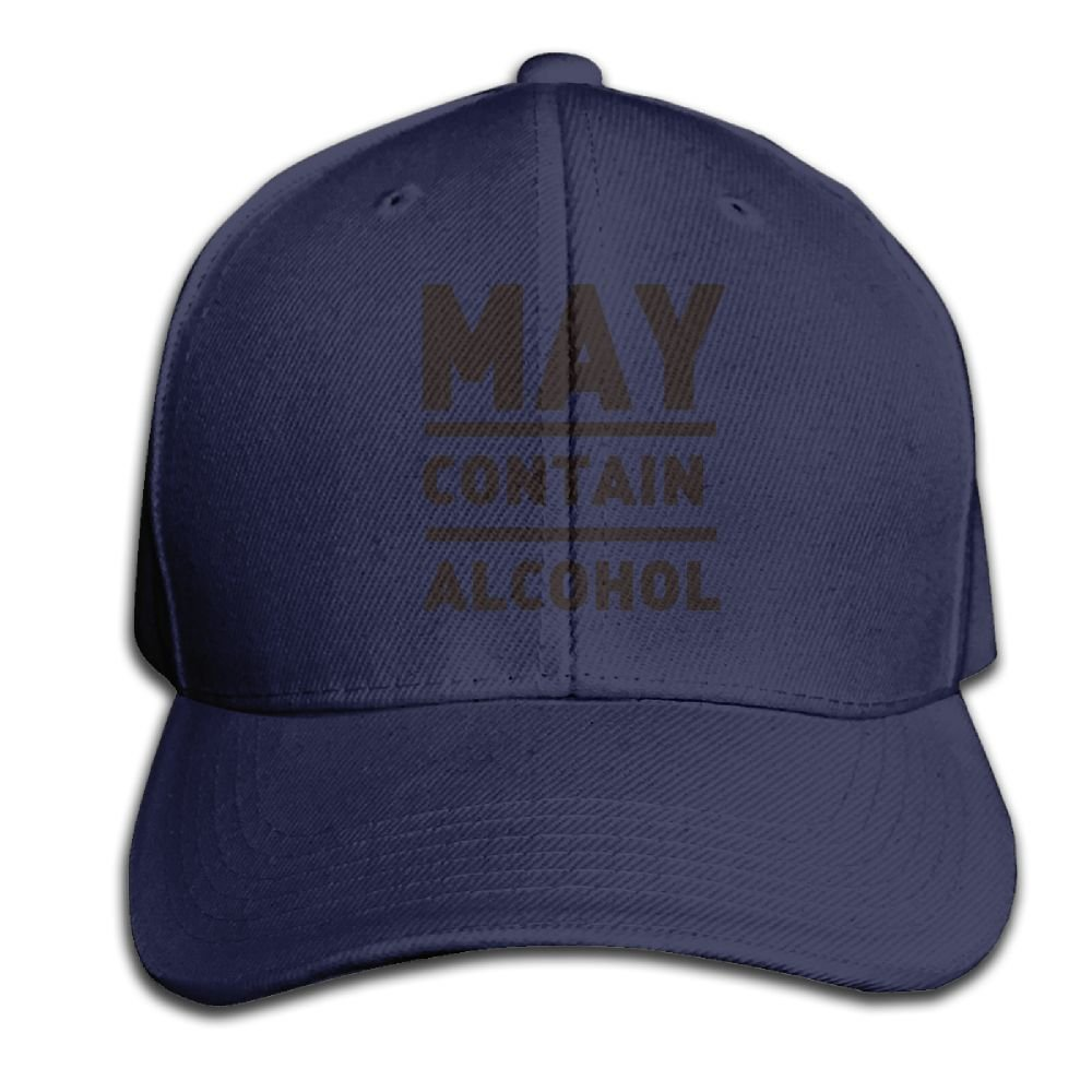 Ghtrh May Contain Alcohol Lovely Cap Outdoor Summer Hat Red