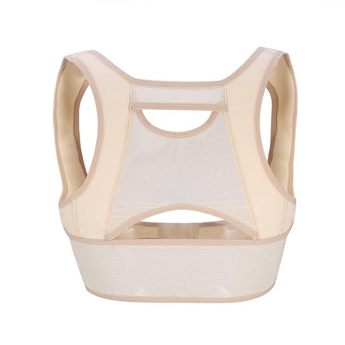 Corrector de postura para mujeres Cinturón de soporte trasero ajustable para el refuerzo del pecho Prevenir el hundimiento del pecho y la clavícula del ...
