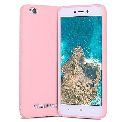 Funda Xiaomi Redmi 4A, Carcasa Redmi 4A, Suave Opaco gel Silicona TPU Cover RosyHeart Ultra Fina Flexible Goma Mate Case Tapa Anti-arañazos Protectora ...